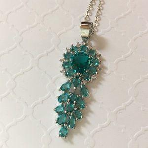 Jewelry - Gorgeous Rich Blue Aquamarine Silver Pendant